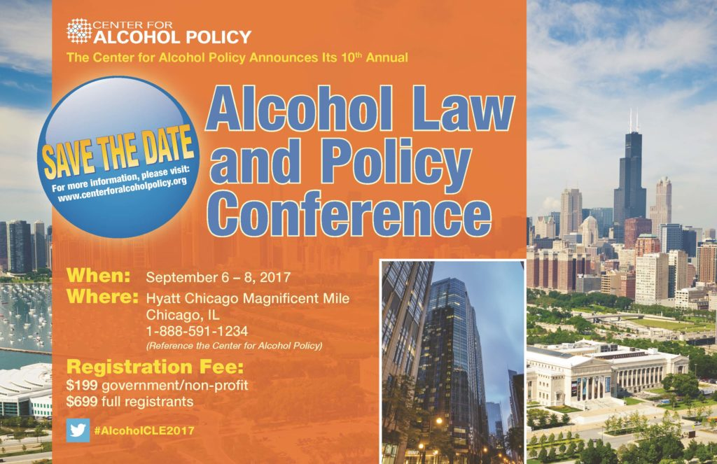 Alcohol Law and Policy Conference 2017 Save the Date